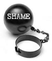 ball and chain of shame